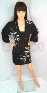 Batik Blouse Kimono Black at Lolyco
