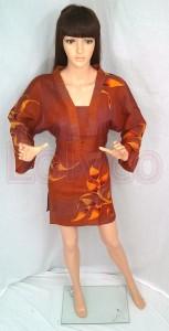 Batik Blouse Kimono Brown at Lolyco